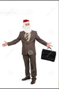 santa in suit